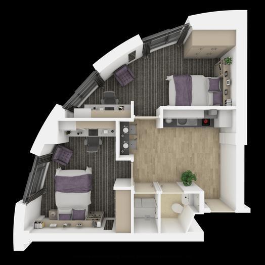 Ensuite Room (2 Bedroom Flat)
