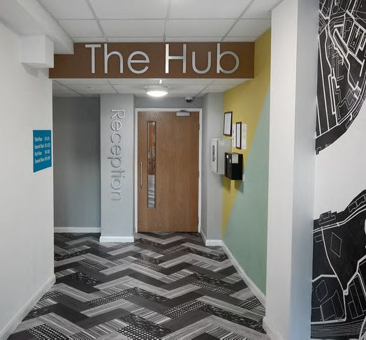 Photo of a the Hub.