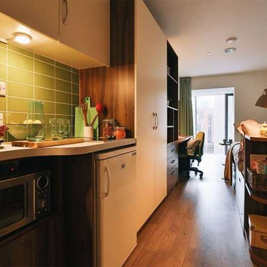 1-room student hall in Hoxton, London