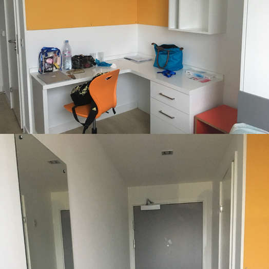 Ensuite room in 1-room student hall in West Hampstead, London