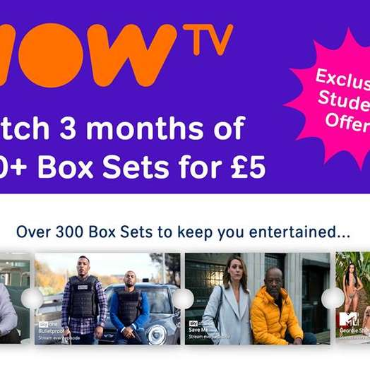 NOW TV: Entertainment Pass [EXCLUSIVE Student Offer]