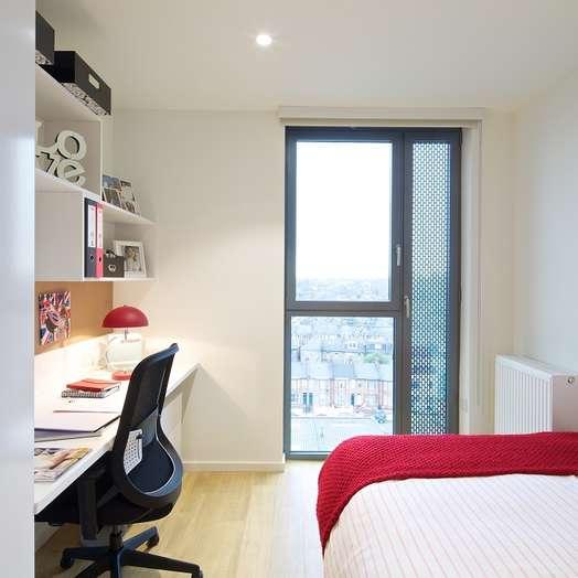 Studio student hall in White City, London